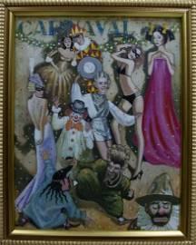 Oil painting Carnival Vladimir Nikolaevich Miller