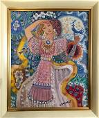 Abstract oil painting Spring Zaretsky Victor Ivanovich