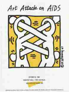 Haring, Keith: Keith Haring - Art Attack on AIDS - 1988