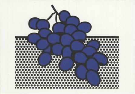 Lichtenstein, Roy: Roy Lichtenstein - Blue Grapes -