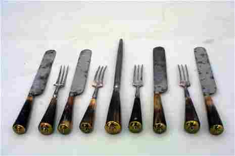 A good early 19th century cutlery services for four