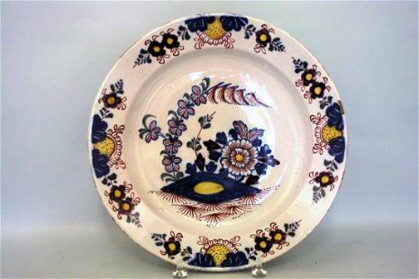 A good mid 18th century London delft fried egg pattern
