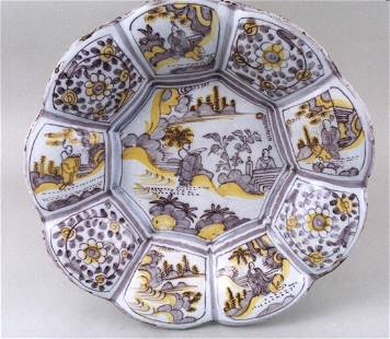 A fine late 17th century lobed deep dish