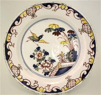 A fine, scarce mid 18th century Liverpool delft plate
