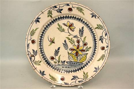 A mid 18th century Bristol delft charger