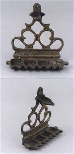 A scarce late 19th century Menorah lamp possibly North