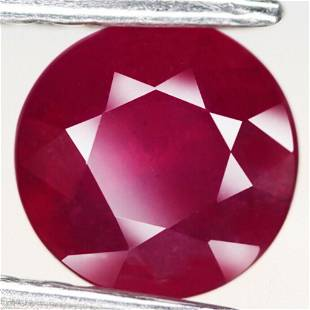 2,07 cts Natural Round Blood Red Ruby