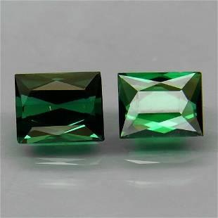 Pair! Natural Green Tourmaline 1,51 ct