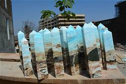 13 Kg Beautiful Blue Caribbean Calcite Towers Parcel