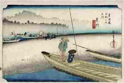 Utagawa HIROSHIGE (1797-1858): Mitsuke - station # 28