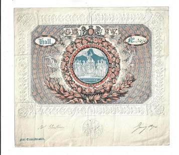 1821 Engraved Coronation Ticket George IV