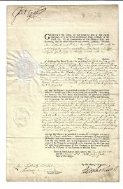 1808 DS George III License Passage Baltic Blockade