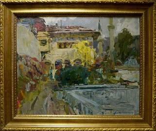 Oil painting Urban landscape Zakharov Fedor Zakharovich