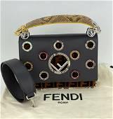 FENDI Zucca KAN I F Python Leather Eyelets 2Way