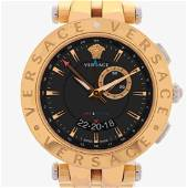 VERSACE V-Race GMT & Alarm Silver and Gold watch - 2016