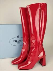 PRADA  High boot in patent calfskin