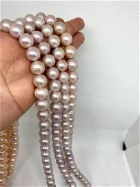 purple round pearl 12 x 13 mm , freshwater pearl, near
