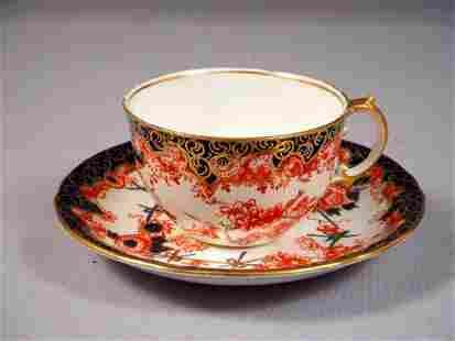ROYAL CROWN DERBY ANTIQUE Coffee Tea cup Saucer Set