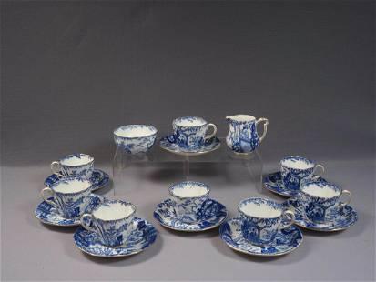 Blue Mikado Royal Crown Derby Coffee Tea Set RARE Cup