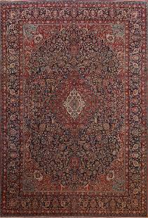 Antique Vegetable Dye Kashan Dabir Persian Area Rug