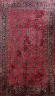 Antique 100% Vegetable Dye Kashan Persian Area Rug