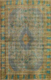 Antique Distressed Tabriz Persian Area Rug 9x12