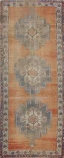 Antique Geometric Oushak Oriental Area Rug 5x11