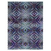 Sari Silk With Textured Wool Colorful Geometric Design