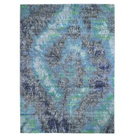 COLORFUL DIMINISHING COINS, Sari Silk with Textured