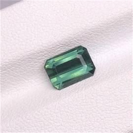 Tourmaline, 1.76 Cts Natural Color & Emerald Cut