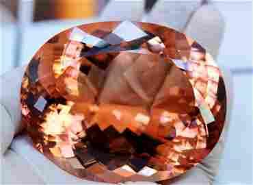 Morganite, 885 Carats Lovely Peach Pink Morganite
