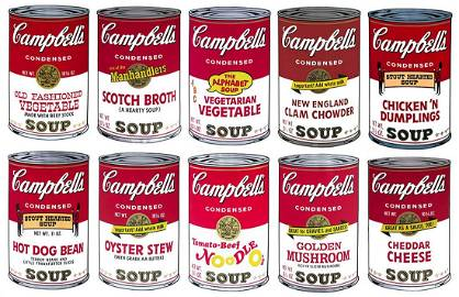 Andy Warhol-Campbell's Soup Series II (Sunday B.