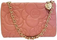 Chanel Camellia Charm Pochette Quilted Lambskin Mini