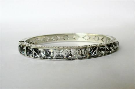 Antique Art-Deco 1/4-Inch Sterling Silver & Paste Stone