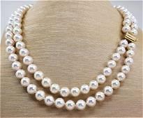 United Pearl - Top grade AAA 8x9mm Akoya Pearls
