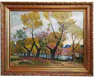 """Kokin Mikhail - """"Three willows"""" painting"""