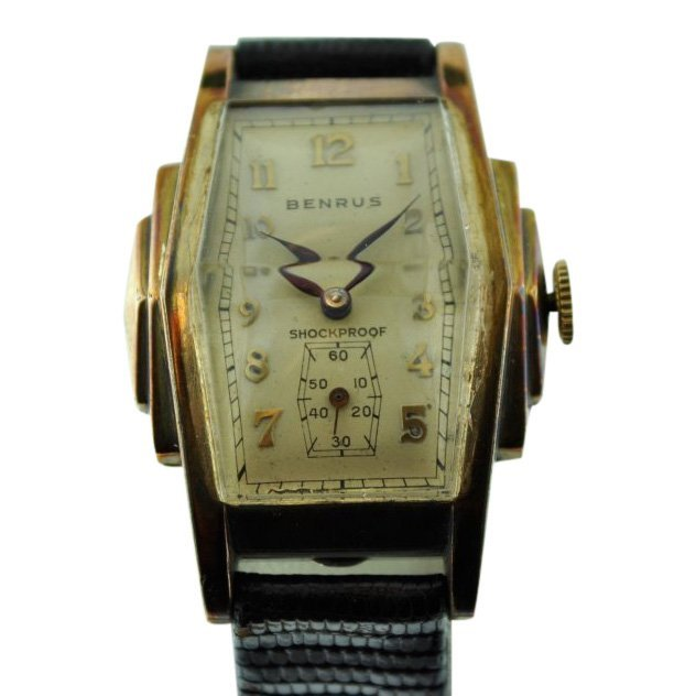 Benrus Unusual Stepped Case Crystal Watch, 1930's