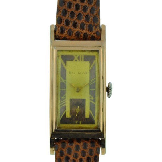 Bulova Two Tone Dial with Elongated Case, 1930's