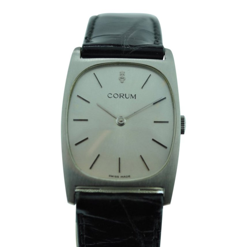 Corum Stainless Steel Manual Wind Watch, 1970's