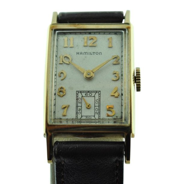 Hamilton 14K Solid Gold Case Watch, 1940's