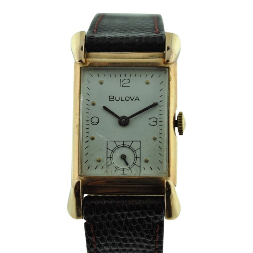 Bulova 14K Solid Pink Gold Watch, 1940's