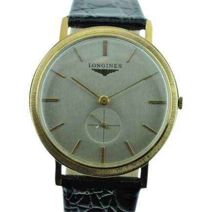 Longines 14K Solid Gold Manual Wind Watch, 1960's