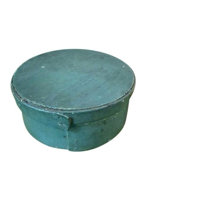 1820 Blue Painted Pantry Box