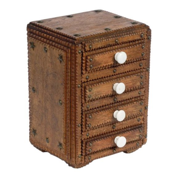 Tramp Art Chest of Drawers