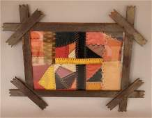 Antique Framed Crazy Quilt Fragment