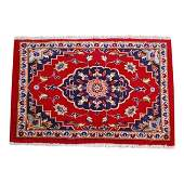 1930s Silk Accent  Wool Persian Kashan Rug
