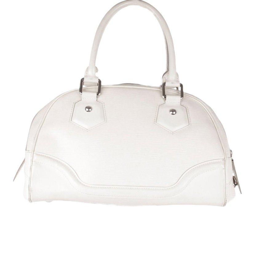 Louis Vuitton Ivory Epi Leather Bowling Satchel
