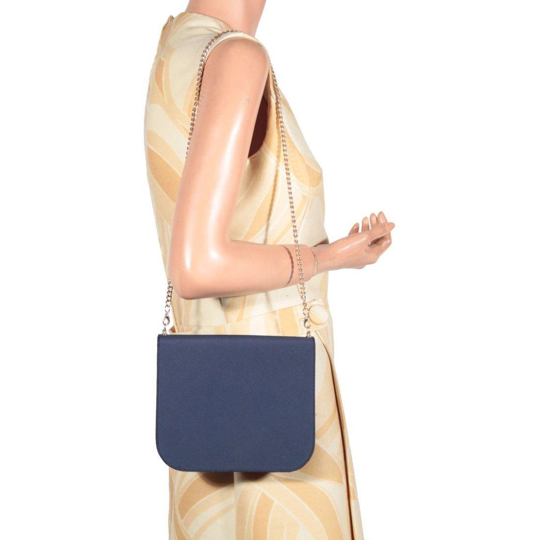 Renaud Pellegrino Blue Satin Evening Shoulder Bag