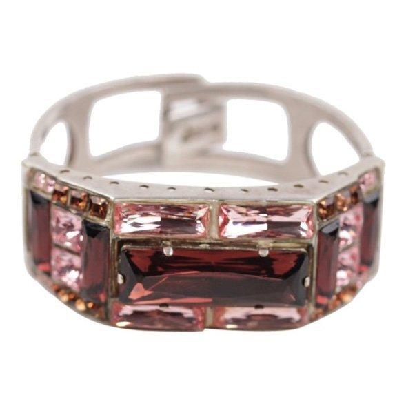 Jean Paul Gaultier Silver Pink Rhinestone Bracelet