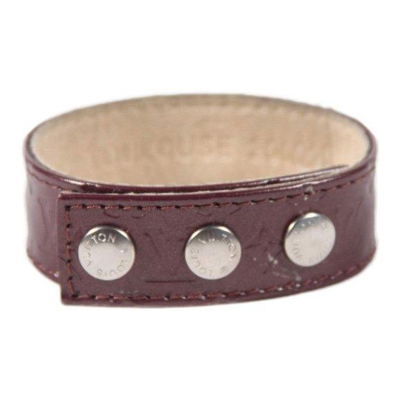 Louis Vuitton Brown Monogram Leather 2002 Rare Bracelet